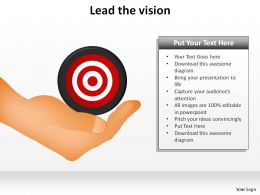 lead the vision hand holding bullseye slides presentation diagrams templates powerpoint info graphics