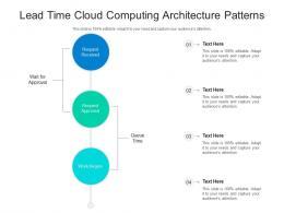 Lead Time Cloud Computing Architecture Patterns Ppt Presentation Diagram