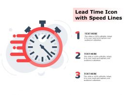 Lead Time Icon With Speed Lines