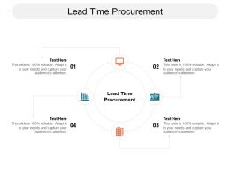 Lead Time Procurement Ppt Powerpoint Presentation Infographic Template Ideas Cpb