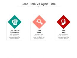 Lead Time Vs Cycle Time Ppt Powerpoint Presentation Infographic Template Styles Cpb