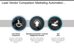 Lead Vendor Comparison Marketing Automation Customer Engagement Services Cpb