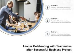 Leader Celebrating With Teammates After Successful Business Project