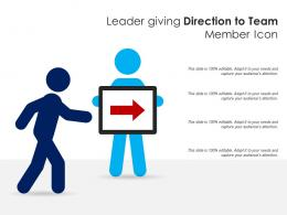 Leader Giving Direction To Team Member Icon
