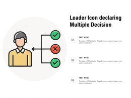 Leader Icon Declaring Multiple Decision
