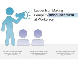 Leader Icon Making Company Announcement At Workplace