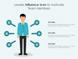 Leader Influence Icon To Motivate Team Members