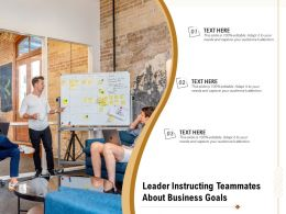 Leader Instructing Teammates About Business Goals