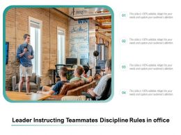Leader Instructing Teammates Discipline Rules In Office
