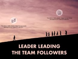 Leader Leading The Team Followers