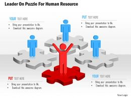 Leader On Puzzle For Human Resource Powerpoint Template