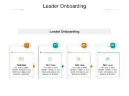 Leader Onboarding Ppt Powerpoint Presentation Ideas Sample Cpb