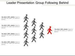Leader Presentation Group Following Behind