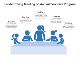 Leader Taking Meeting On Annual Executive Program