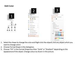 Leader Team Organizational Chart Flat Powerpoint Design