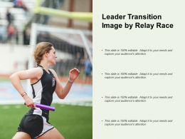 Leader Transition Image By Relay Race