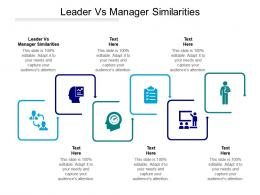 Leader Vs Manager Similarities Ppt Powerpoint Presentation Introduction Cpb