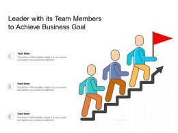 Leader With Its Team Members To Achieve Business Goal