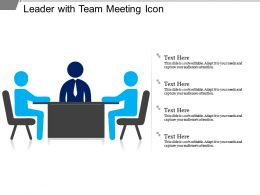 Leader With Team Meeting Icon