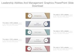 Leadership Abilities And Management Graphics Powerpoint Slide Download
