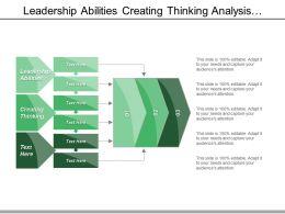 Leadership Abilities Creating Thinking Analysis Aptitude Management Capabilities