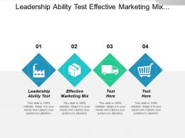 Leadership Ability Test Effective Marketing Mix Communication Strategies Cpb