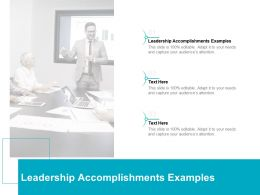 Leadership Accomplishments Examples Ppt Powerpoint Presentation Pictures Cpb