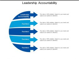 Leadership Accountability Ppt Powerpoint Presentation Gallery Slide Download Cpb