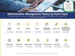 Leadership And Board Administrative Management Theory By Henri Fayol Ppt Powerpoint Portrait