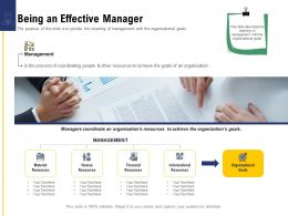 Leadership And Board Being An Effective Manager Ppt Powerpoint Presentation Gallery