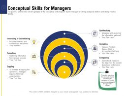 Leadership And Board Conceptual Skills For Managers Ppt Powerpoint Presentation Slides