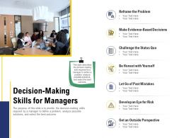 Leadership And Board Decision Making Skills For Managers Ppt Powerpoint Presentation Gallery