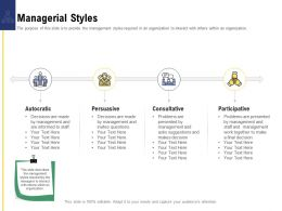 Leadership And Board Managerial Styles Ppt Powerpoint Presentation Summary Graphics