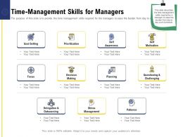 Leadership And Board Time Management Skills For Managers Ppt Powerpoint Graphics