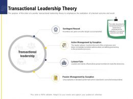 Leadership And Board Transactional Leadership Theory Ppt Powerpoint Presentation Model Ideas