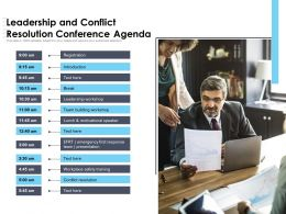 Leadership And Conflict Resolution Conference Agenda