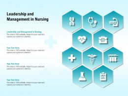 Leadership And Management In Nursing Ppt Powerpoint Presentation Ideas Example