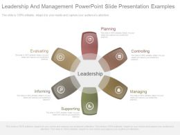 Leadership And Management Powerpoint Slide Presentation Examples
