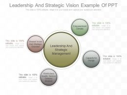 Leadership And Strategic Vision Example Of Ppt