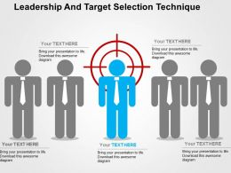 Leadership And Target Selection Technique Flat Powerpoint Design