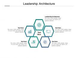 Leadership Architecture Ppt Powerpoint Presentation Portfolio Slides Cpb
