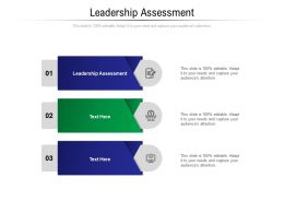 Leadership Assessment Ppt Powerpoint Presentation Ideas Example Introduction Cpb