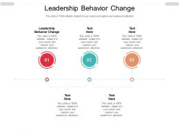 Leadership Behavior Change Ppt Powerpoint Presentation Portfolio Graphic Images Cpb