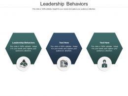 Leadership Behaviors Ppt Powerpoint Presentation Infographic Template Portfolio Cpb