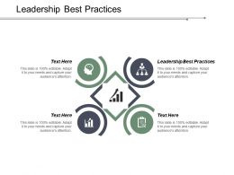 Leadership Best Practices Ppt Powerpoint Presentation Portfolio Infographics Cpb