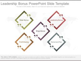 Leadership Bonus Powerpoint Slide Template