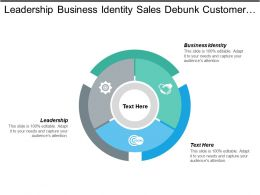 Leadership Business Identity Sales Debunk Customer Retention Ppt Cpb