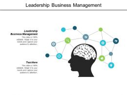 Leadership Business Management Ppt Powerpoint Presentation Layouts Icon Cpb