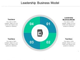 Leadership Business Model Ppt Powerpoint Presentation Ideas Slide Cpb