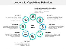 Leadership Capabilities Behaviors Ppt Powerpoint Presentation Slides Visual Aids Cpb